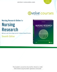 cover image - Nursing Research Online for Nursing Research (User's Guide and Access Code),7th Edition