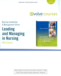 cover image - Nursing Leadership & Management Online for Leading and Managing in Nursing,5th Edition