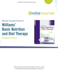 cover image - Nutrition Concepts Online for Williams' Basic Nutrition and Diet Therapy,13th Edition