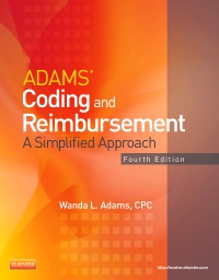 cover image - Adams' Coding and Reimbursement,4th Edition