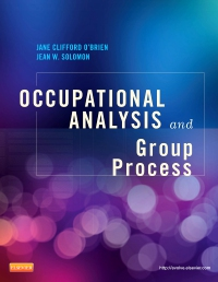 cover image - Occupational Analysis and Group Process- Elsevier eBook on VitalSource