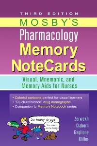 cover image - Mosby's Pharmacology Memory NoteCards - Elsevier eBook on VitalSource,3rd Edition