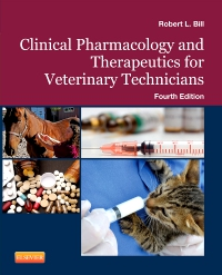 cover image - Clinical Pharmacology and Therapeutics for Veterinary Technicians - Elsevier eBook on VitalSource,4th Edition