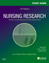 cover image - Study Guide for Nursing Research: Methods and Critical Appraisal for Evidence-Based Practice - Elsevier eBook on VitalSource,7th Edition