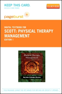 cover image - Physical Therapy Management - Elsevier eBook on VitalSource (Retail Access Card)