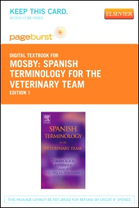 cover image - Spanish Terminology for the Veterinary Team - Elsevier eBook on VitalSource (Retail Access Card)