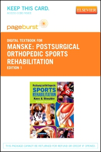 cover image - Postsurgical Orthopedic Sports Rehabilitation - Elsevier eBook on VitalSource (Retail Access Card)