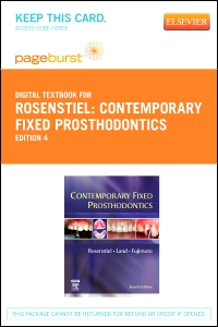 cover image - Contemporary Fixed Prosthodontics - Elsevier eBook on VitalSource (Retail Access Card),4th Edition