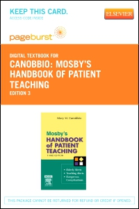 cover image - Mosby's Handbook of Patient Teaching - Elsevier eBook on VitalSource (Retail Access Card),3rd Edition