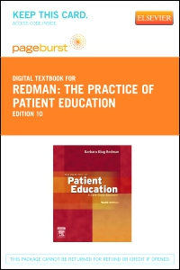 cover image - The Practice of Patient Education - Elsevier eBook on VitalSource (Retail Access Card),10th Edition