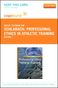 cover image - Professional Ethics in Athletic Training - Elsevier eBook on VitalSource (Retail Access Card)