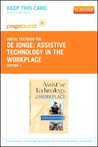 cover image - Assistive Technology in the Workplace - Elsevier eBook on VitalSource (Retail Access Card)