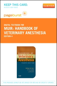 cover image - Handbook of Veterinary Anesthesia - Elsevier eBook on VitalSource (Retail Access Card)-,4th Edition
