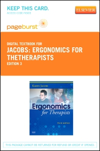 cover image - Ergonomics for TheTherapists - Elsevier eBook on VitalSource (Retail Access Card),3rd Edition