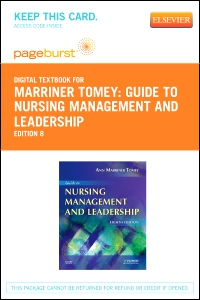 cover image - Guide to Nursing Management and Leadership - Elsevier eBook on VitalSource (Retail Access Card),8th Edition