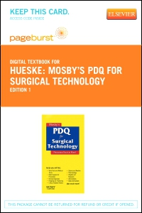 cover image - Mosby's PDQ for Surgical Technology - Elsevier eBook on VitalSource (Retail Access Card)