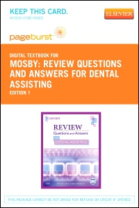 cover image - Review Questions and Answers for Dental Assisting - Elsevier eBook on VitalSource (Retail Access Card)