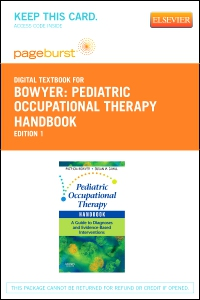 cover image - Pediatric Occupational Therapy Handbook - Elsevier eBook on VitalSource (Retail Access Card)