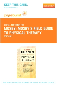 cover image - Mosby's Field Guide to Physical Therapy - Elsevier eBook on VitalSource (Retail Access Card)