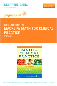 cover image - Math For Clinical Practice - Elsevier eBook on VitalSource (Retail Access Card),2nd Edition