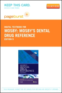 cover image - Mosby's Dental Drug Reference - Elsevier eBook on VitalSource (Retail Access Card),9th Edition