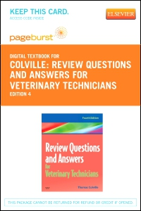 cover image - Review Questions and Answers for Veterinary Technicians - Elsevier eBook on VitalSource (Retail Access Card),4th Edition