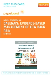 cover image - Evidence-Based Management of Low Back Pain - Elsevier eBook on VitalSource (Retail Access Card)