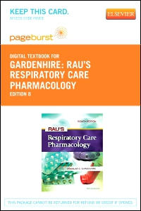 cover image - Rau's Respiratory Care Pharmacology - Elsevier eBook on VitalSource (Retail Access Card),8th Edition