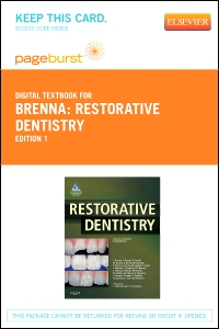 cover image - Restorative Dentistry - Elsevier eBook on VitalSource (Retail Access Card)