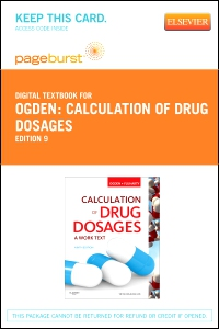 cover image - Calculation of Drug Dosages - Elsevier eBook on VitalSource (Retail Access Card),9th Edition