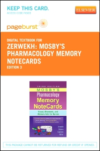 cover image - Mosby's Pharmacology Memory NoteCards - Elsevier eBook on VitalSource (Retail Access Card),3rd Edition