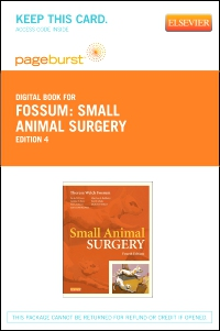 cover image - Small Animal Surgery Textbook - Elsevier eBook on VitalSource (Retail Access Card),4th Edition