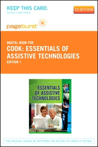 cover image - Essentials of Assistive Technologies- Elsevier eBook on VitalSource (Retail Access Card)