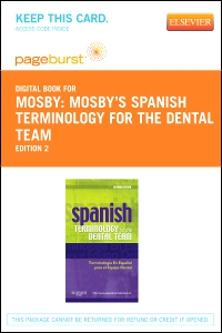 cover image - Spanish Terminology for the Dental Team - Elsevier eBook on VitalSource (Retail Access Card),2nd Edition