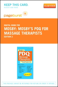 cover image - Mosby's PDQ for Massage Therapists - Elsevier eBook on VitalSource (Retail Access Card),2nd Edition