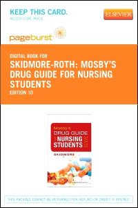 cover image - Mosby's Drug Guide for Nursing Students - Elsevier eBook on VitalSource (Retail Access Card),10th Edition