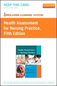 cover image - Simulation Learning System for Health Assessment for Nursing Practice (Retail Access Card),5th Edition