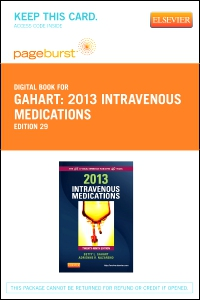 cover image - 2013 Intravenous Medications – Elsevier eBook on VitalSource (Retail Access Card),29th Edition