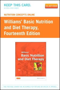 cover image - Nutrition Concepts Online for Williams' Basic Nutrition and Diet Therapy (Access Code),14th Edition