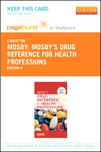 cover image - Mosby's Drug Reference for Health Professions - Elsevier eBook on VitalSource (Retail Access Card),4th Edition