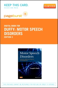 cover image - Motor Speech Disorders - Elsevier eBook on VitalSource (Retail Access Card),3rd Edition