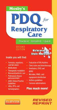 cover image - Mosby's PDQ for Respiratory Care - Revised Reprint - Elsevier eBook on VitalSource,2nd Edition