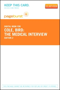 cover image - The Medical Interview - Elsevier eBook on VitalSource (Retail Access Card),2nd Edition