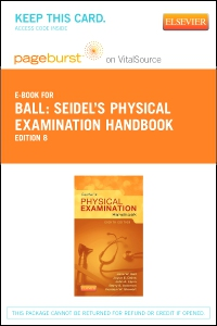cover image - Seidel's Physical Examination Handbook - Elsevier eBook on VitalSource (Retail Access Card),8th Edition