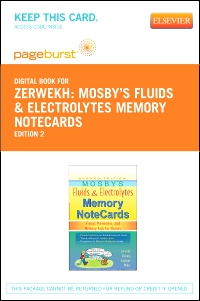 cover image - Mosby's Fluids & Electrolytes Memory NoteCards - Elsevier eBook on VitalSource (Retail Access Card),2nd Edition