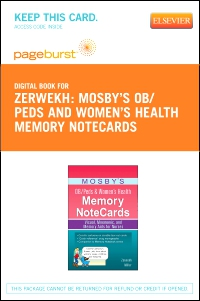 cover image - Mosby's OB/Peds & Women's Health Memory NoteCards - Elsevier eBook on VitalSource (Retail Access Card)