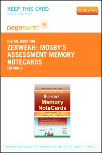 cover image - Mosby's Assessment Memory NoteCards - Elsevier eBook on VitalSource (Retail Access Card),2nd Edition