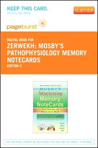 cover image - Mosby's Pathophysiology Memory NoteCards - Elsevier eBook on VitalSource (Retail Access Card),2nd Edition