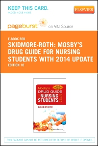 cover image - Mosby's Drug Guide for Nursing Students, with 2014 Update - Elsevier eBook on Vitalsource (Retail Access Card),10th Edition