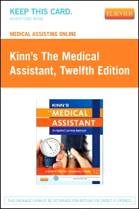 cover image - Medical Assisting Online for Kinn's The Medical Assistant (Access Code),12th Edition